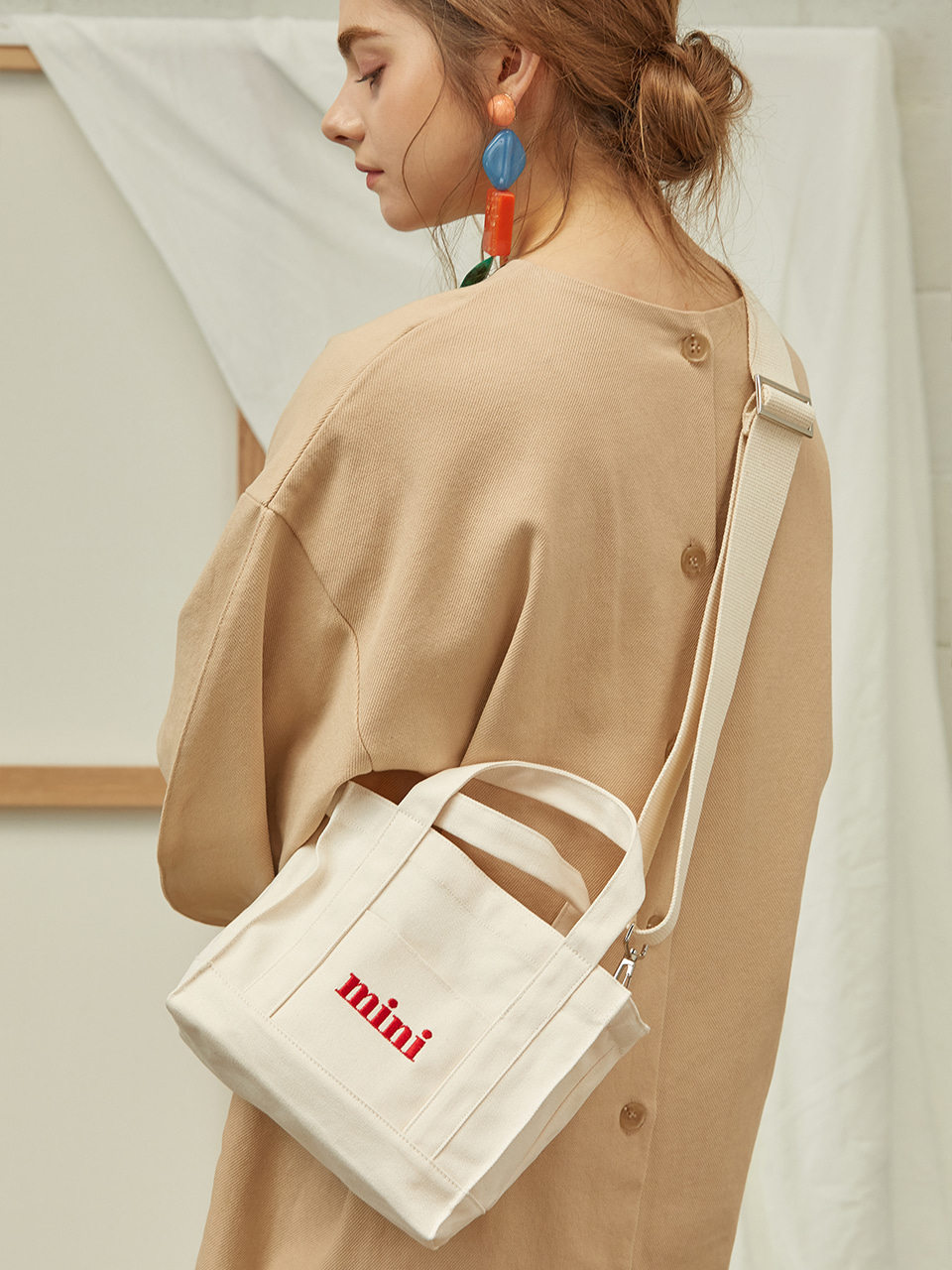 [수지착용] mini canvasbag